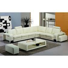 canapé d angle pouf canapé d angle en cuir blanc design avec 2 poufs achat vente