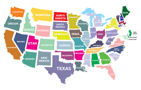 United States Time Zones Map by What The States Were Almost Called