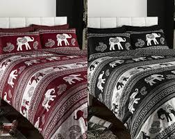 Elephant Print Comforter Set Elephant Bedding Etsy