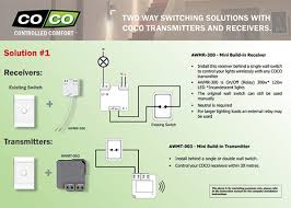 2 way wireless switching solves retrofit wiring issues
