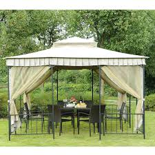 Grill Gazebos Home Depot by Outdoor Replacement Canopy Sunjoy Gazebo 10x10 Gazebo