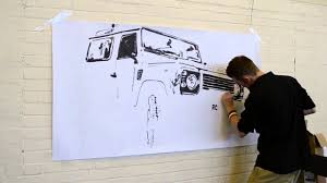 land rover drawing amazing land rover drawing time lapse youtube