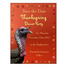save the date thanksgiving postcard zazzle