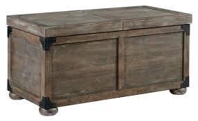 signature design by ashley vennilux trunk style rustic storage