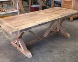 reclaimed wood outdoor table farm table etsy