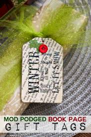 mod podge gift tags gift craft and wraps