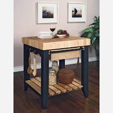 black kitchen island with butcher block top beautiful farmhouse