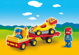 cartoon race car tow truck with race car 6761 playmobil northern europe norway