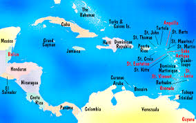 carribbean map caribbean maps