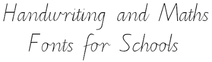 handwriting and maths fonts for schools