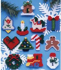 design works country ornaments plastic canvas kit 1221