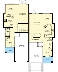 Duplex Narrow Lot Floor Plans | plan 67718mg duplex house plan for the small narrow lot duplex