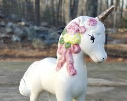 vintage unicorn ring holder images Ceramic unicorn etsy jpg