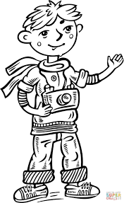child photographer coloring page free printable coloring pages