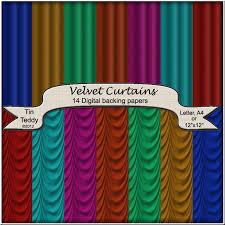 Turquoise Velvet Curtains Velvet Curtains Backgrounds Drapes Digital Backing Paper For