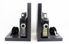 Unique Bookends Kodak Cine Eight 25 20 U2013 Vintage Camera Bookends U2013 Dvd Holder