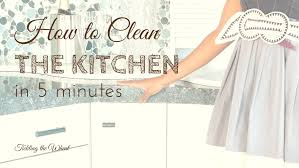 How To Clean The Kitchen by Simplified Cleaning Archives Organized Motherhood