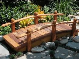backyard bridges garden bridge with arching rail wooden garden bridges wooden