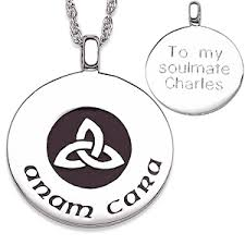 anam cara symbol sterling silver anam cara knot engraved s necklace