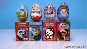 chocolate surprise eggs peppa pig kitty barbie kinder minnie