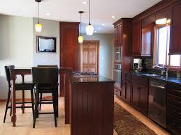 Counter Height Kitchen Island Table Stunning Cherry Kitchen Island Table With Wall Mount Lcd Tv For