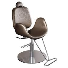 Reclining Makeup Chair Synthetic Leather Makeup Chair With Headrest With Footrest