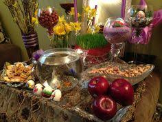 Iranian New Year Table Decoration by