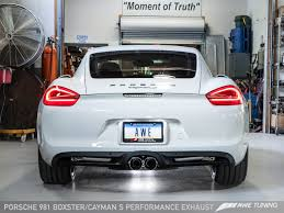 porsche cayman s performance awe tuning porsche 981 cayman s performance exhaust awe tuning