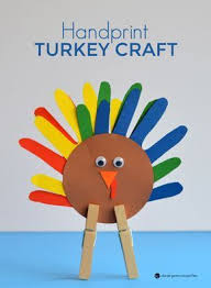 handprint turkey craft turkey craft keepsakes and craft