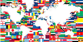 Flags Of The Wrld National Flags And World Map Royalty Free Cliparts Vectors And
