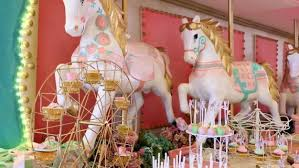 Carousel Horse Centerpiece by Actual Party Dainty Carousel Party Handicrafts Atbp