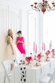 white party table decorations modern pink black white party ideas 100 layer cake