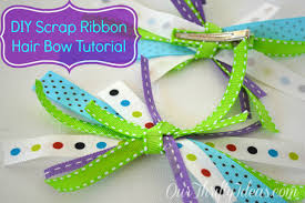 ribbon hair bow tutorial fabric ribbon hair bows our thrifty ideas