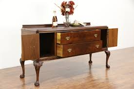 Vintage Buffets Sideboards Walnut Georgian Style 1930 U0027s Vintage Sideboard Server Or Buffet