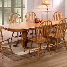 Dining Room Furniture Oak Spectacular Room Table Oak Pedestal Dining Table