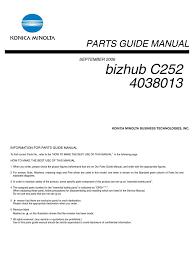 bizhub c252 parts manual