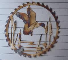 Duck Dynasty Home Decor Duck Circular Sawblade Heat Colored Metal Art Wall By Tibi291