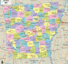 Road Map Usa by Arkansas Road Map