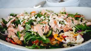 saumon cuisine fut salade de couscous israélien au saumon et à la menthe cuisine