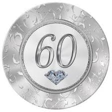 60th anniversary plate 60th birthday gifts or 60th anniversary plate anniversaries