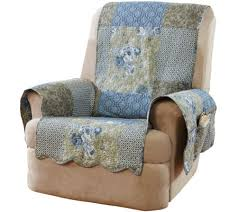 sure fit heirloom printed patchwork recliner cover page 1 u2014 qvc com