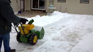 john deere 826 snow blower youtube