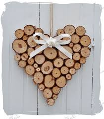 Heart Home Decor Large Rustic Log Heart Wedding Home Decoration By Bynicki On Etsy