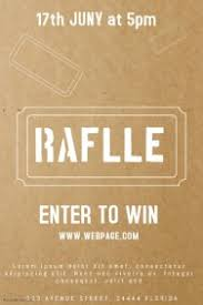 customizable design templates for raffle ticket postermywall