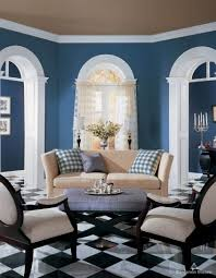 living room living room blue theme decoration blue ocean color