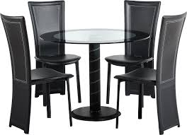 Round Glass Top Dining Table Set Round Dining Table Set For 4 Homesfeed