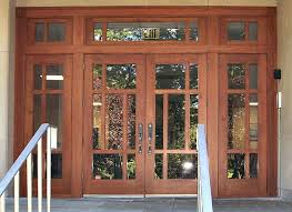 Door Styles Exterior Exterior Entrance Panel Door With Framed Glass With