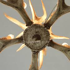 Rustic Candle Chandelier 5 Light Antler Shaped Outdoor Candle Chandelier