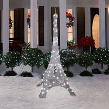 Outdoor Christmas Decorations Home Depot Gemmy 81 In Sparkle Crystal Splendor Eiffel Tower 88006 At The