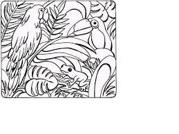 rainforest coloring printouts bebo pandco